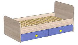 Детская кровать с двумя ящиками