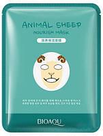 Тканинна маска для обличчя з принтом овечки Bioaqua Animal Sheep Nourish Mask, 30г