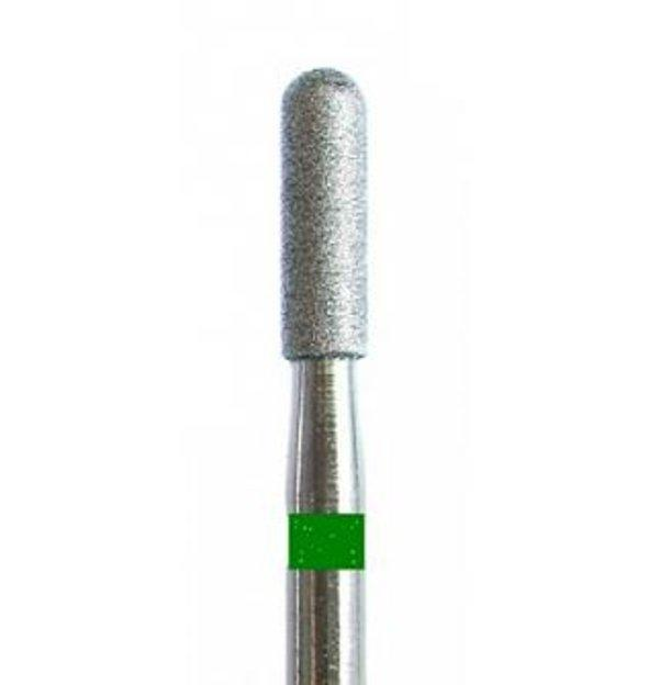 """Фреза алмазна """"Циліндр закруглений"""" 2,5 мм (зелена)"""