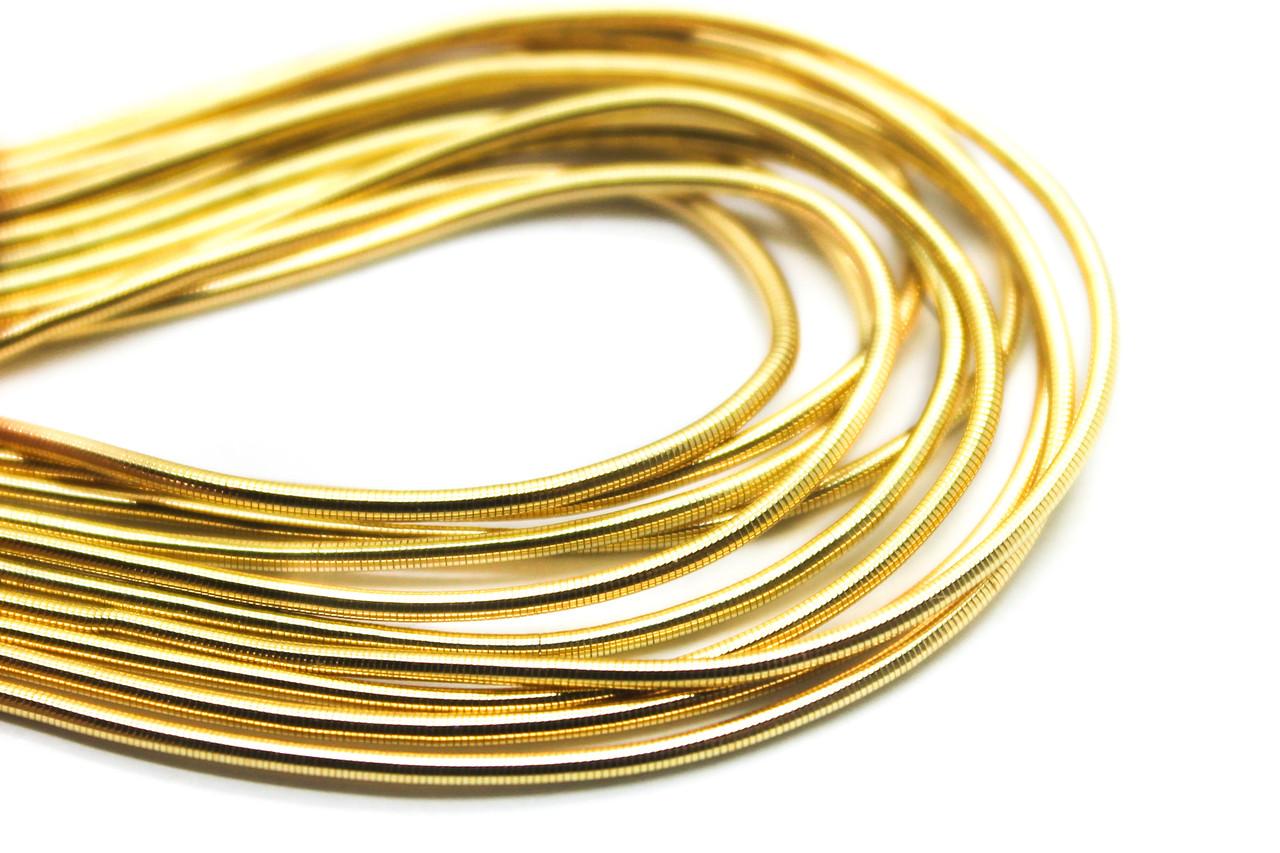Канитель гладкая,d-1мм, Цвет Золото светлое, Цена за 5 грамм.