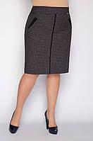 Прямая класическая юбка больших размеров с карманами р.46-56. Арт-1552/10