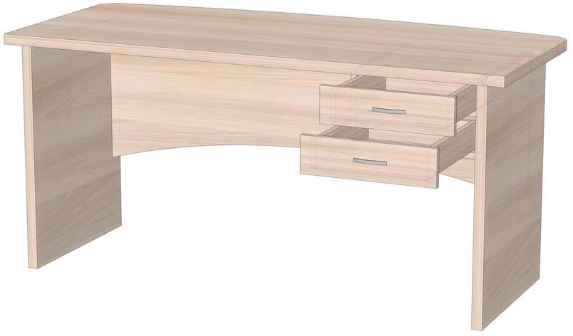 Офисный стол для директора с ящиками Орион, фото 2