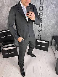 Классический Мужской костюм grey.Last size L