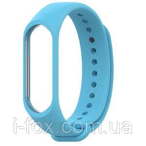 Ремешок браслет для Xiaomi Mi Band 4 (Сяоми Ми Бэнд 4) голубого цвета