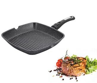 Сковороды | Сковорода-гриль со съемной ручкой Benson BN-311 28 см