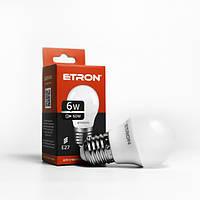 Лампа LED шарик ETRON G45 6W 4200K 220V E27 1-ELP-046