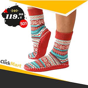 Носки - тапочки с нескользящей подошвой женские размер 35-38