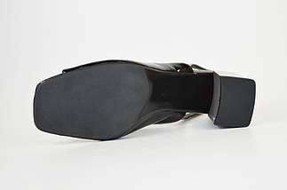 Босоножки на каблуке Bacyni 25353 серо-черные, фото 2