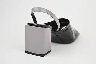 Босоніжки на підборах Bacyni 25353 сіро-чорні, фото 2