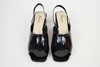 Босоножки на каблуке Bacyni 25353 серо-черные, фото 3