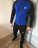 Спортивный костюм Under Armour X-blue мужской трикотажный весенний осенний ЛЮКС