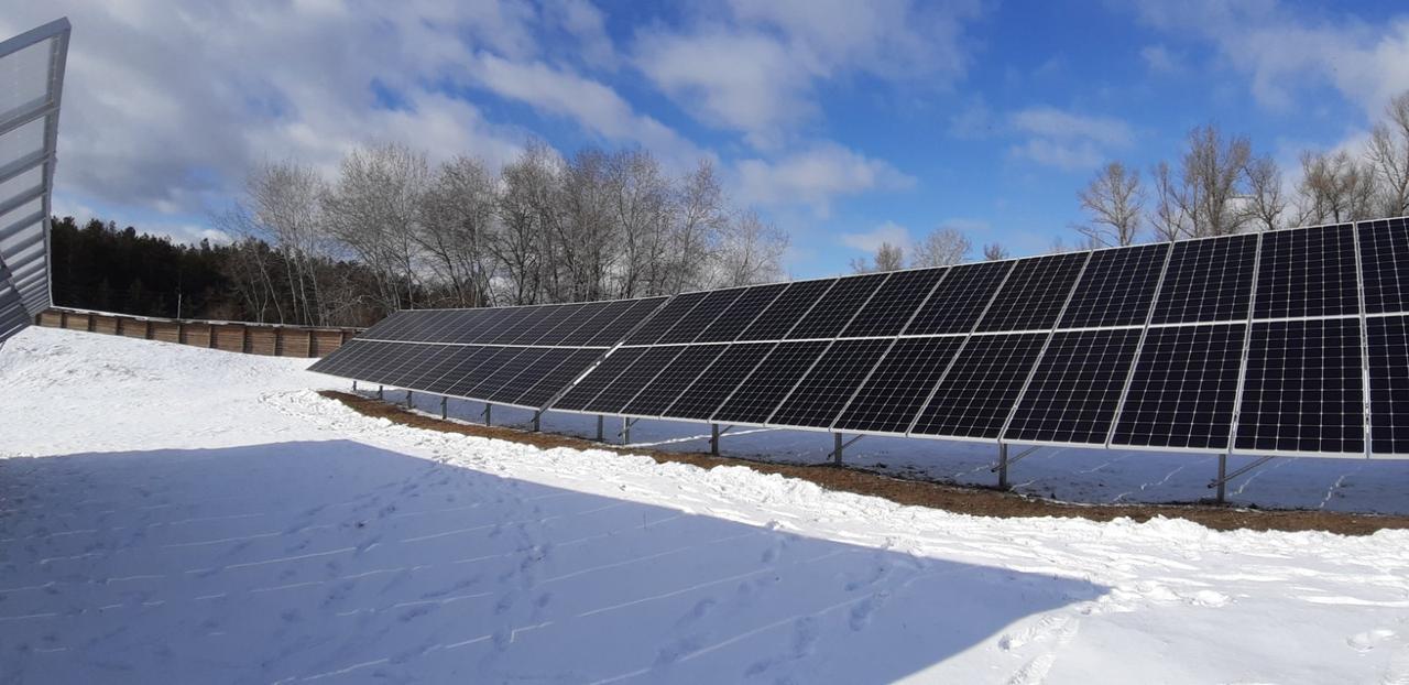 Система креплений солнечных батарей для наземного размещения 90 шт (30 кВт)