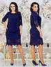 Женское силуэтное платье декорировано узором 48, 50, 52, 54, фото 2