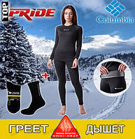 Женское термобелье коламбия, Columbia Omni Heat,цвет цвет черный
