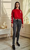 Красивые молодежные джеггинсы в пепельном цвете размеры от S до XL