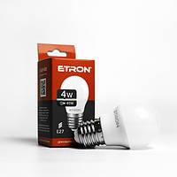 Лампа LED шарик ETRON G45 4W 4200K 220V E27 1-ELP-050