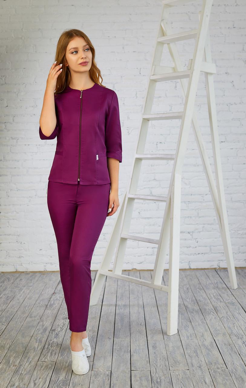 Женская медицинская куртка топ Мята - Жіноча медична куртка топ Мята - Одежда косметолога