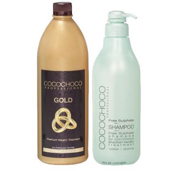 Набор для кератинового выпрямления волос Cocochoco Gold, 2х1000