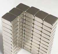 Магнит неодимовый. Прямоугольник 12x10x2,5 мм Сцепление ≈ 2,2 кг 20 шт.
