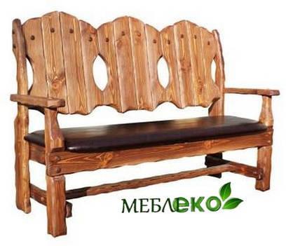 """Скамейка - кресло под старину из натурального дерева """"Добряк"""""""
