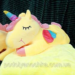 Іграшка-плед-подушка Єдиноріг 🦄 розмір іграшки 60х30
