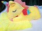 Іграшка-плед-подушка Єдиноріг 🦄 розмір іграшки 60х30, фото 2