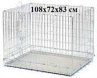 Клетка вольер 108х72х83 см для котов и собак Волк-2