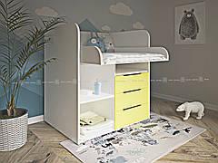 Детский пеленальный комод К-10 на 3 ящика