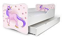 Кровать с ящиком 180х80 Единорог Nobiko
