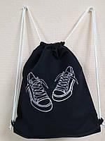 Рюкзак - мешок с вышивкой, для прогулок, сменной обуви,детский