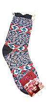 Шерстяные женские носки с отворотом размер 36-38, фото 2