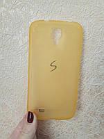 Силиконовый чехол для Samsung Galaxy S6 G920 прорезиненный Baseus желтый