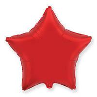 """Фольгована кулька зірка червоний 18"""" Flexmetal"""