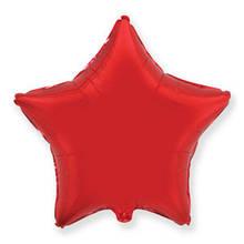 """Фольгированный шар звезда красный 18"""" Flexmetal"""