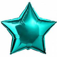 """Фольгированный шар звезда бирюзовый 18"""" Flexmetal"""