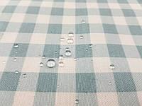 Тефлоновая ткань ДУК принт КЛЕТКА минт