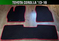 ЕВА коврики на Toyota Corolla '13-18. Ковры EVA Тойота Королла, фото 1
