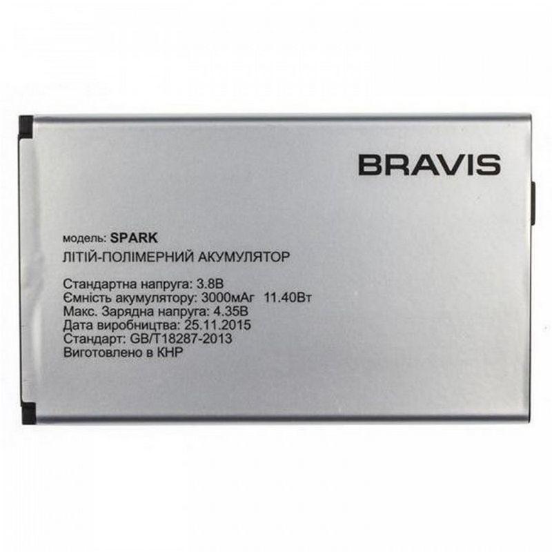 Аккумулятор АКБ Bravis Spark (Li-ion 3.8V 3000mAh) Оригинал Китай