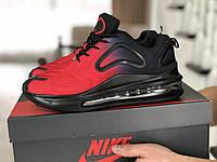 Мужские кроссовки Nike Air Max 720 черные с красным