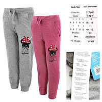 Спортивные штаны для девочек оптом, Disney, 116-152 cм,  № MIN-G-JOGPANTS-61