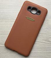 Силиконовый чехол для Samsung Galaxy J2 J210 2016 прорезиненный + ЛОГО
