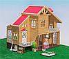 Домик вилла для зверят Happy Family с мебелью и светом