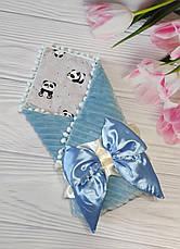 Детский демисезонный конверт на выписку, конверт-одеяло (ВЕСНА/ОСЕНЬ), конверт-плед для новорожденного, фото 2