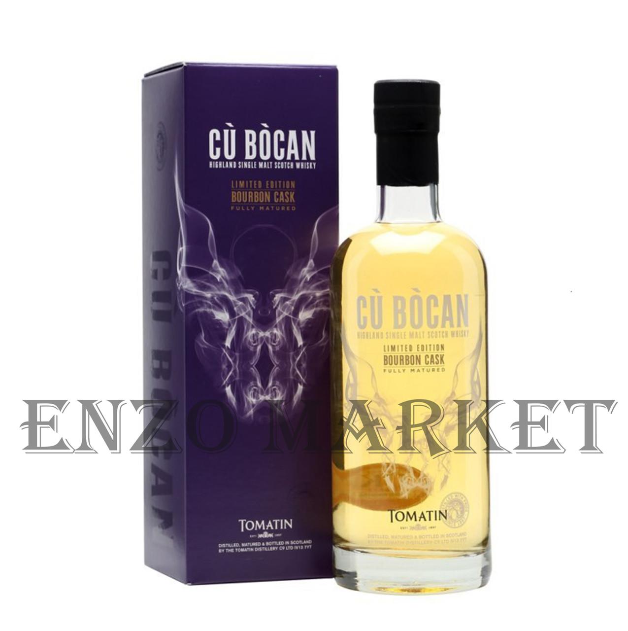Виски Tomatin Cu Bocan Bourbon Cask (Томатин Ку Бокан Бурбон Каск) 46%, 0,7 литра