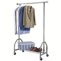 """Стойка для одежды """"LUX"""" хромированная, длина 120 см., фото 1"""