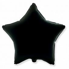 """Фольгована кулька зірка чорний 19"""" Godan"""