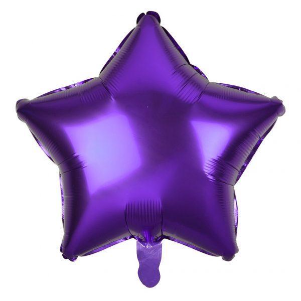 """Фольгована кулька зірка фіолетовий 19"""" Godan"""