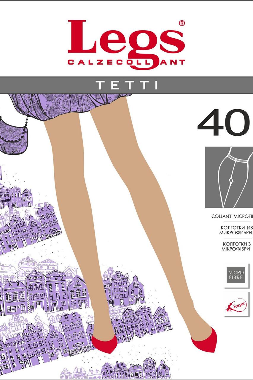 Колготки(1/2р-р)из микрофибры, серый, Tetti 40 ден, Legs