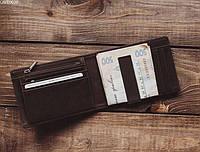 Шкіряне портмоне Staff brown metal