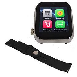 """Умные часы-телефон 1.54"""" с камерой Smart Watch Z6S (серые)"""
